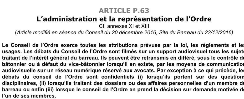 Article 63 RIBP